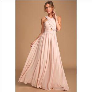 Blush Halter Maxi Dress